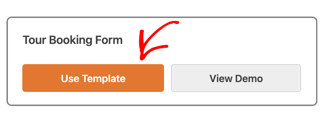 Selecting a template from the form library