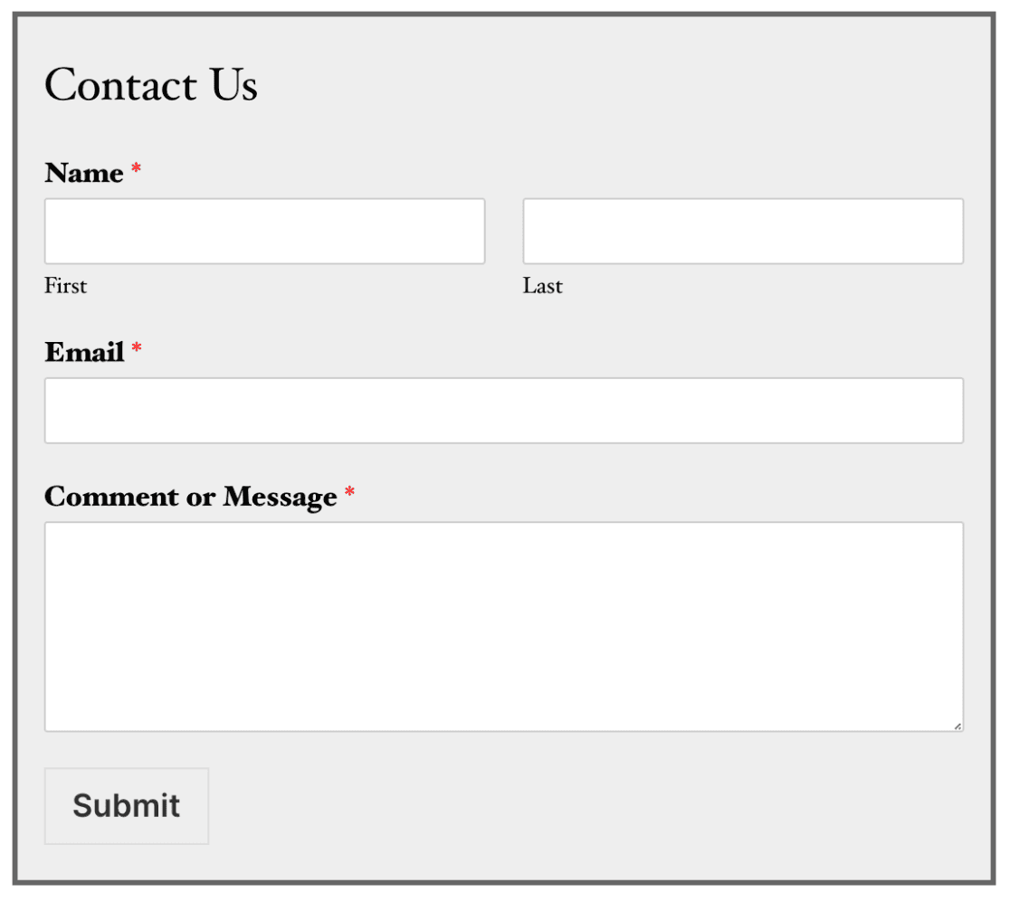 CSS-Example-add-border-to-form