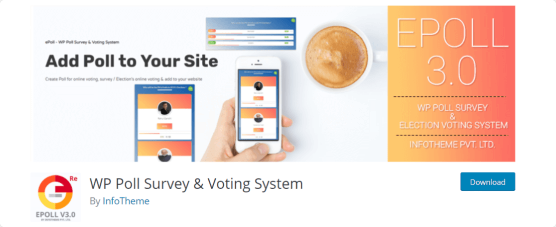 WP Poll Survey & Voting System