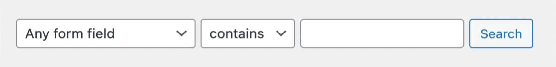 WPForms entry search bar