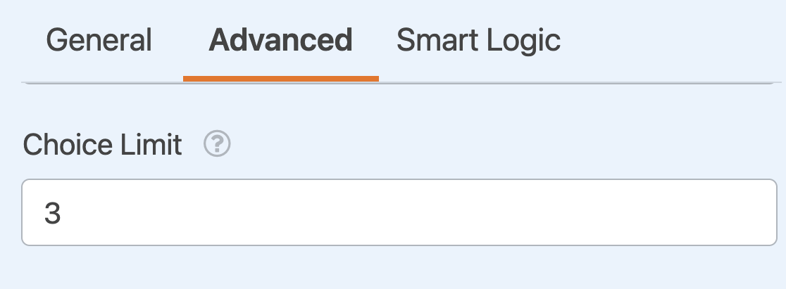 Setting a Checkboxes field choices limit