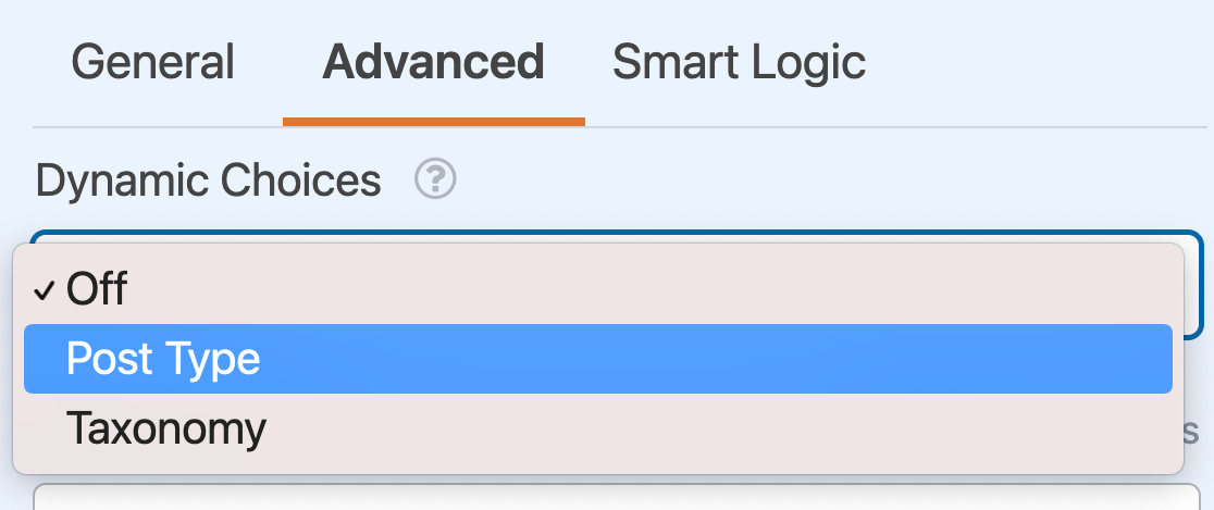 Setting up dynamic choices for a Checkboxes field