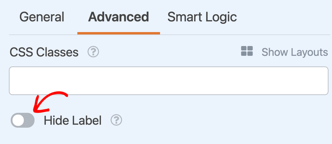Hiding the label for a Checkboxes field