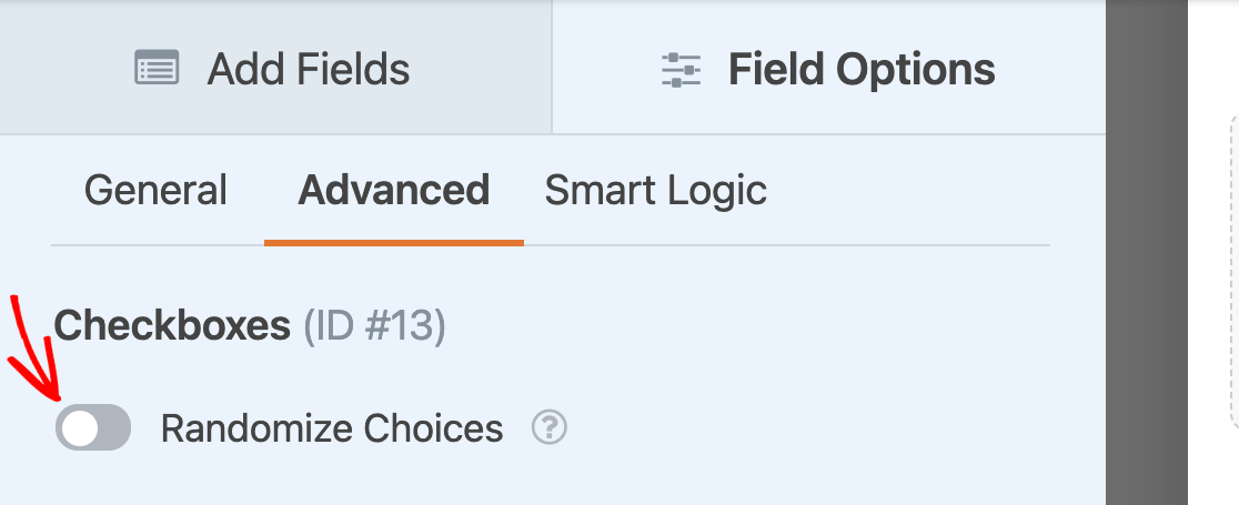 Randomizing the choices for a Checkboxes field