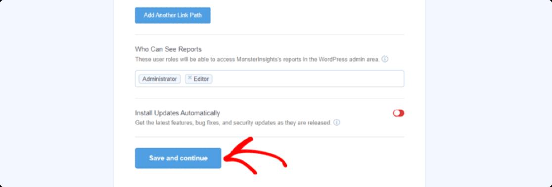 save monsterinsights settings
