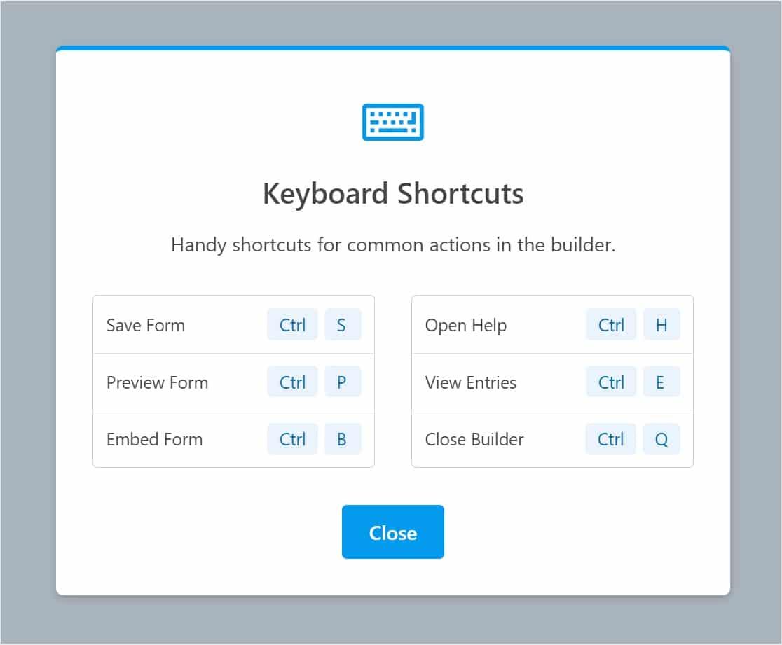 shortcuts in wpf