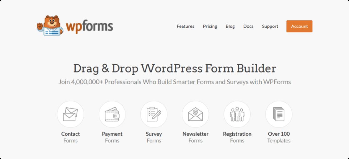 WPForms - Best form builder plugin