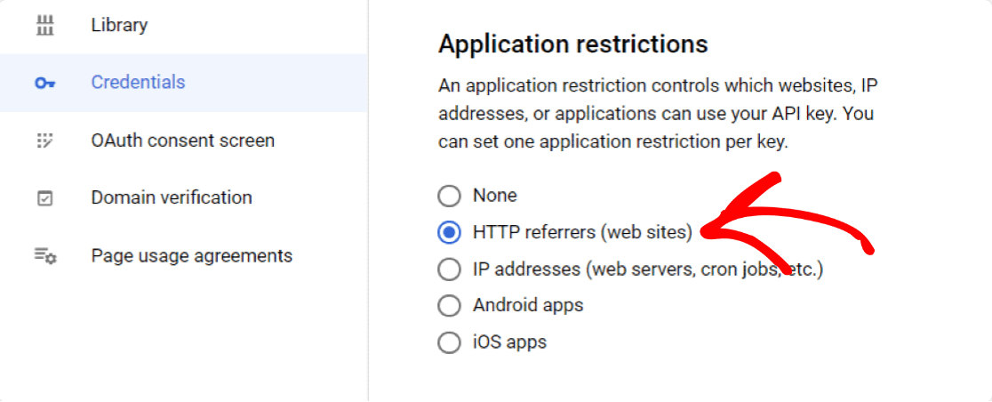 application-restrictions
