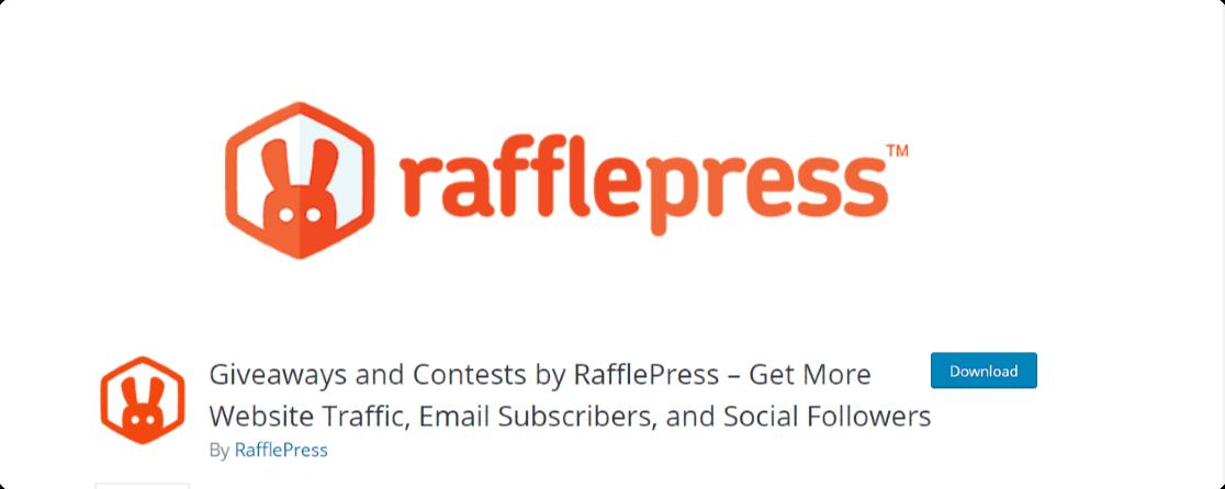 rafflepress - best giveaway plugin for wordpress