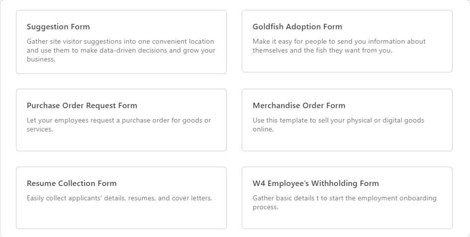 WPForms template library