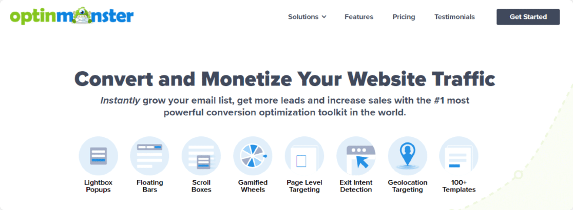 OptinMonster - best wordpress email subscription plugin
