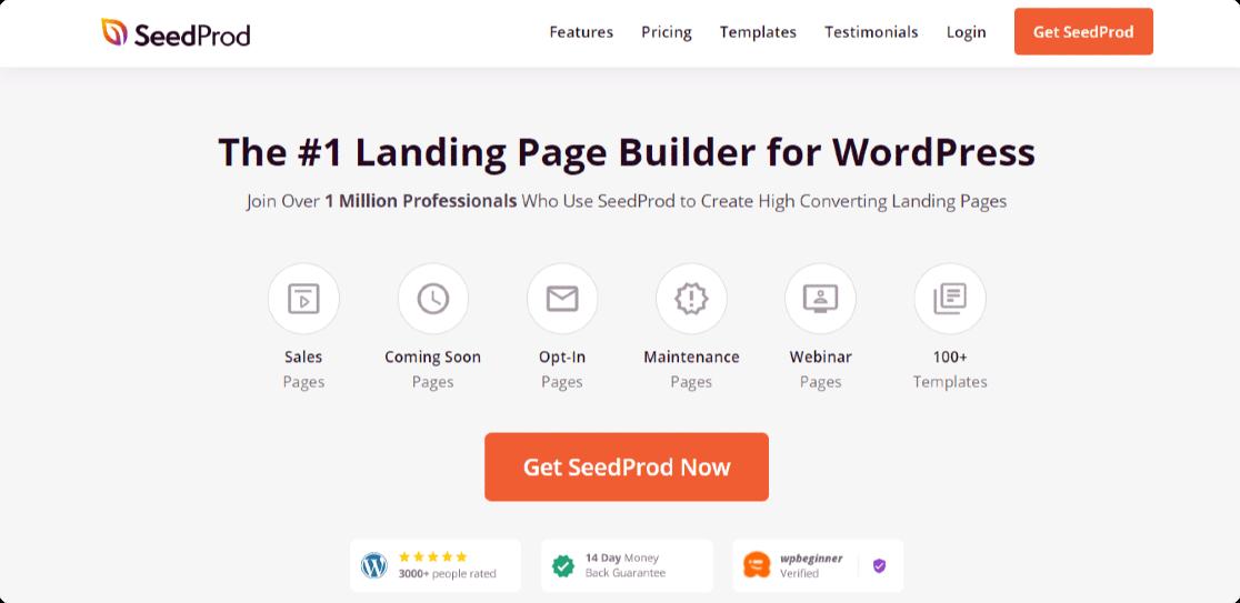seedprod - best landing page builder for wordpress