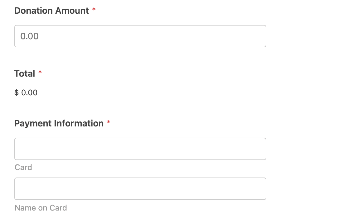 Setting up payment fields to use with Square conditional logic