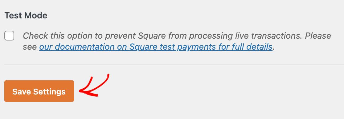 Saving your WPForms Payments settings