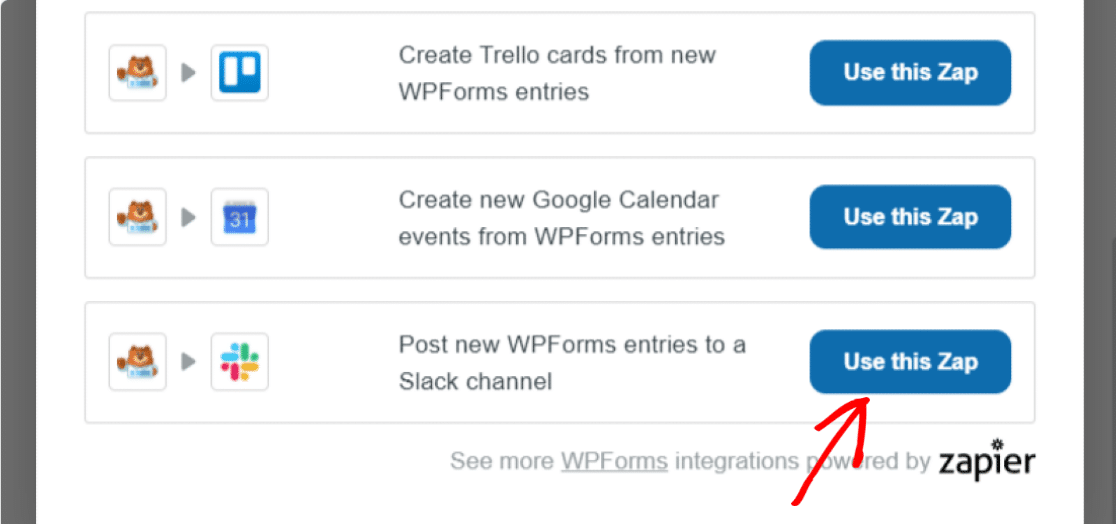 slack notifications from wordpress forms
