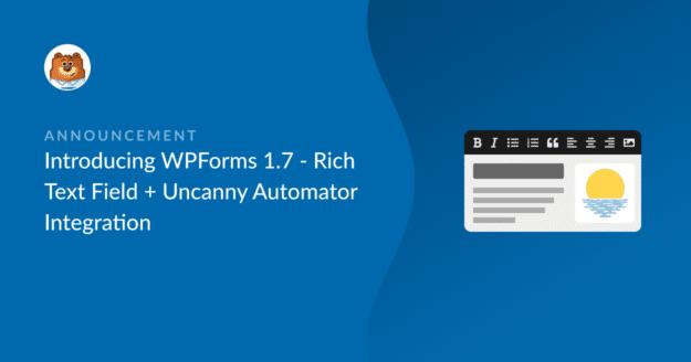 WPForms 1.7