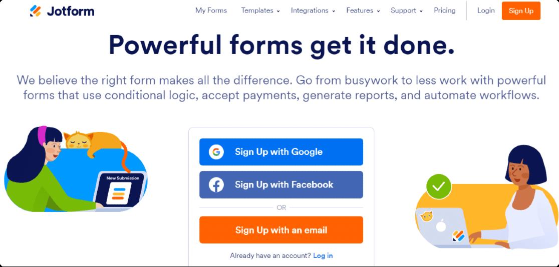 Jotform features