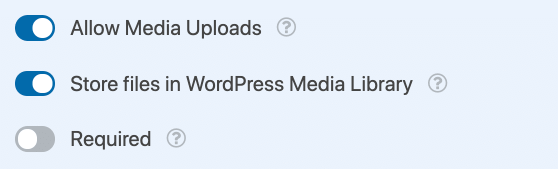 Image upload controls for rich text field
