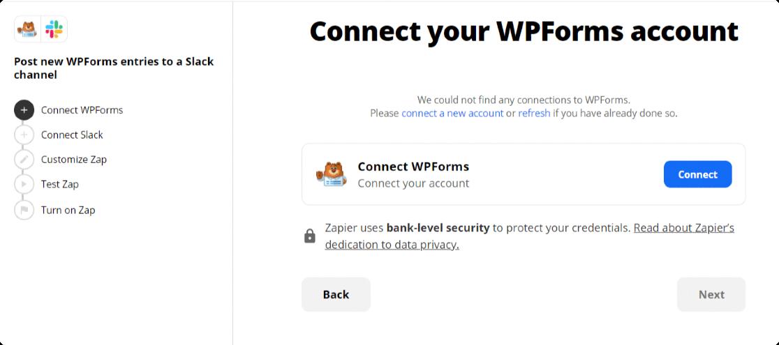 connect wpforms to zapier