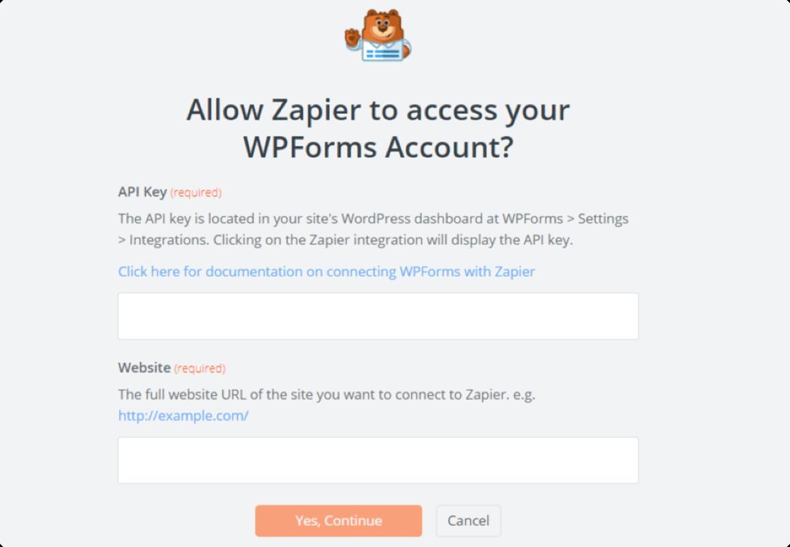 allow zapier to access WPForms