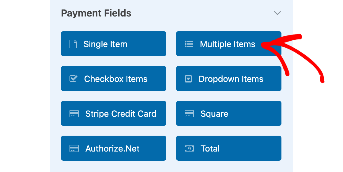 Select multiple items field