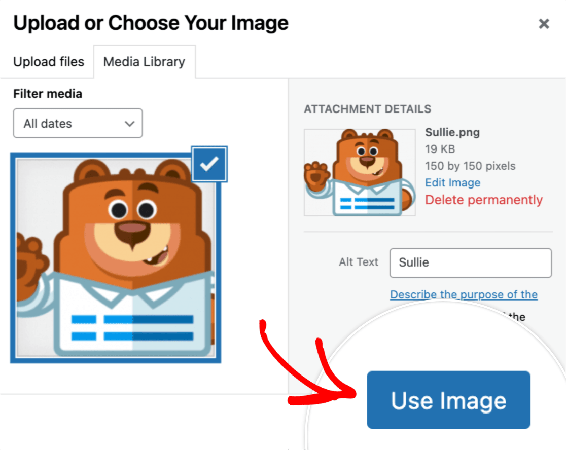 Upload and use image
