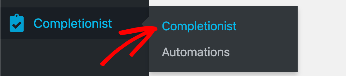 Completionist settings in WordPress