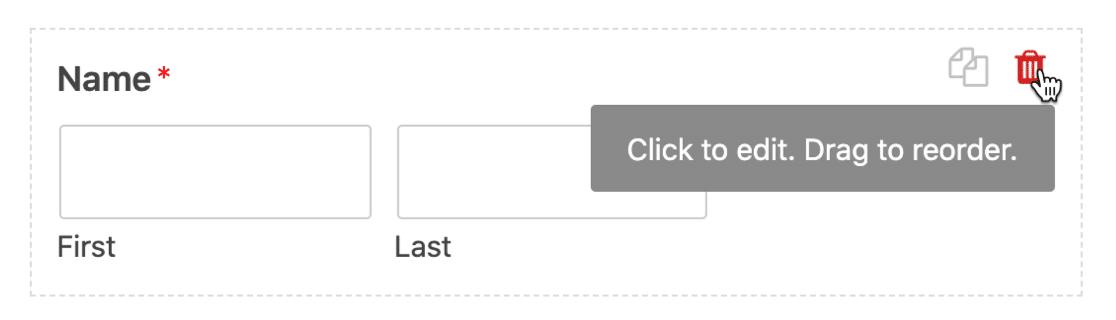 Delete name field on SendFox form