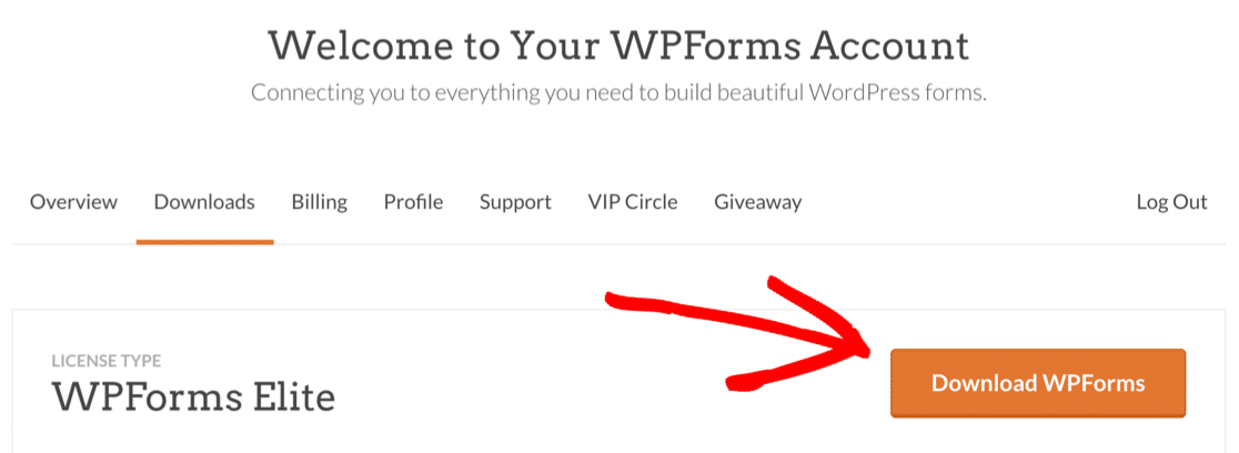 Download WPForms plugin