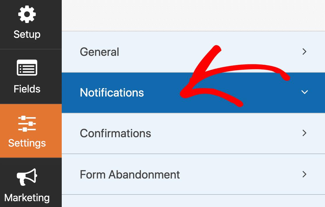 SendFox WordPress form notifications
