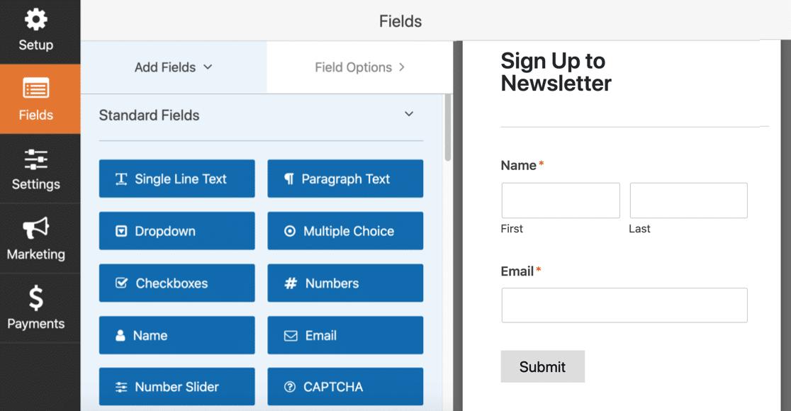 SendFox WordPress subscription form