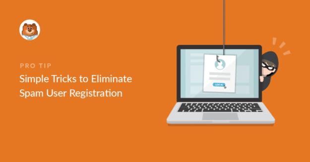 Stop spam user registration