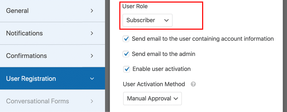 Set the default role to Subscriber in a custom user registration form