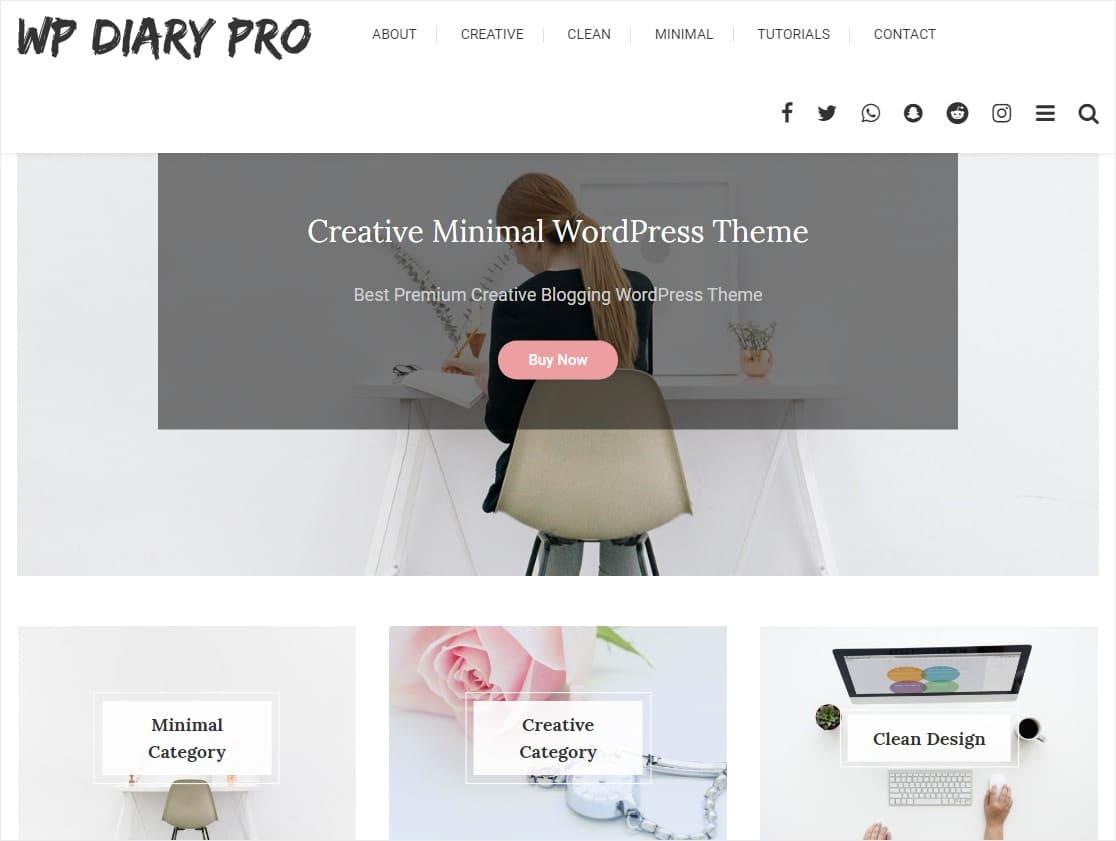 blog layouts wp diary pro