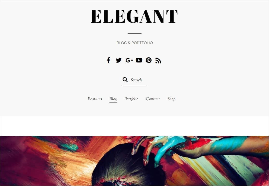 elegant minimal wordpress theme