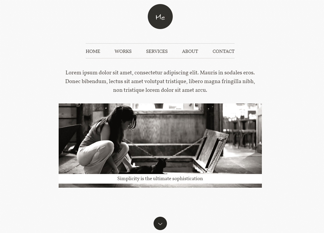 me blog layouts web design
