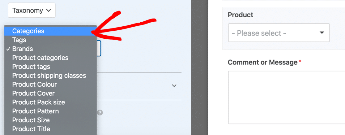 Auto populate fields with dynamic taxonomy choices