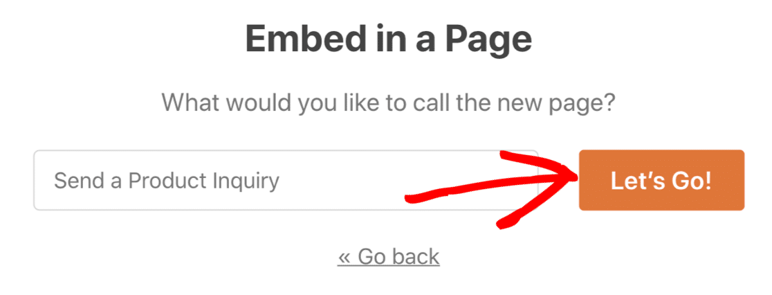 Create a page for your form with auto-populated fields