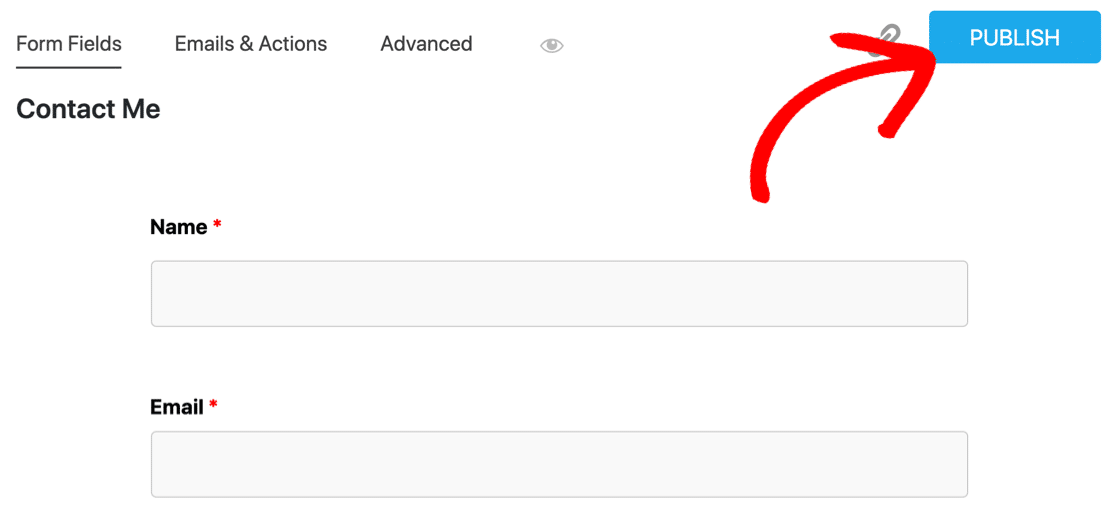 Publish a form in Ninja Forms