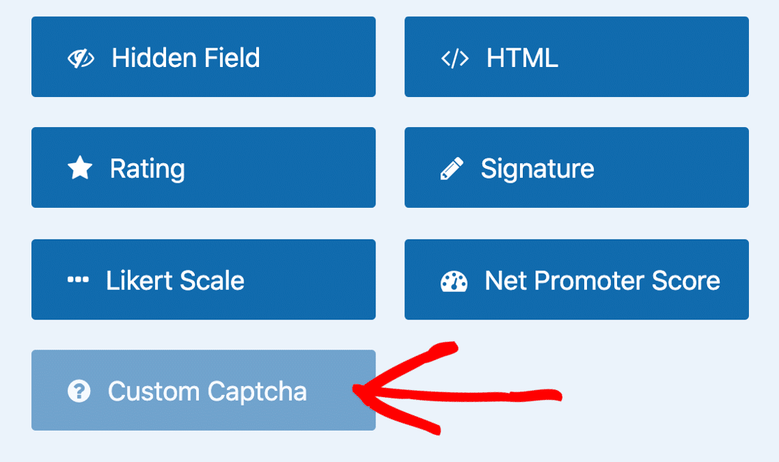 Grayed out Custom CAPTCHA field