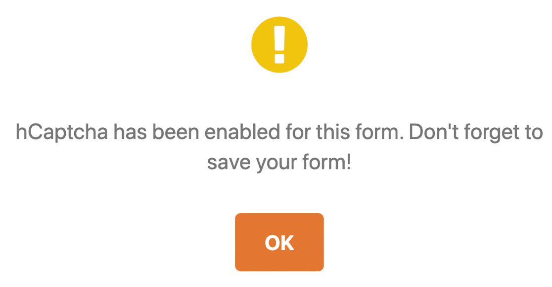 hCaptcha enabled to stop contact form spam
