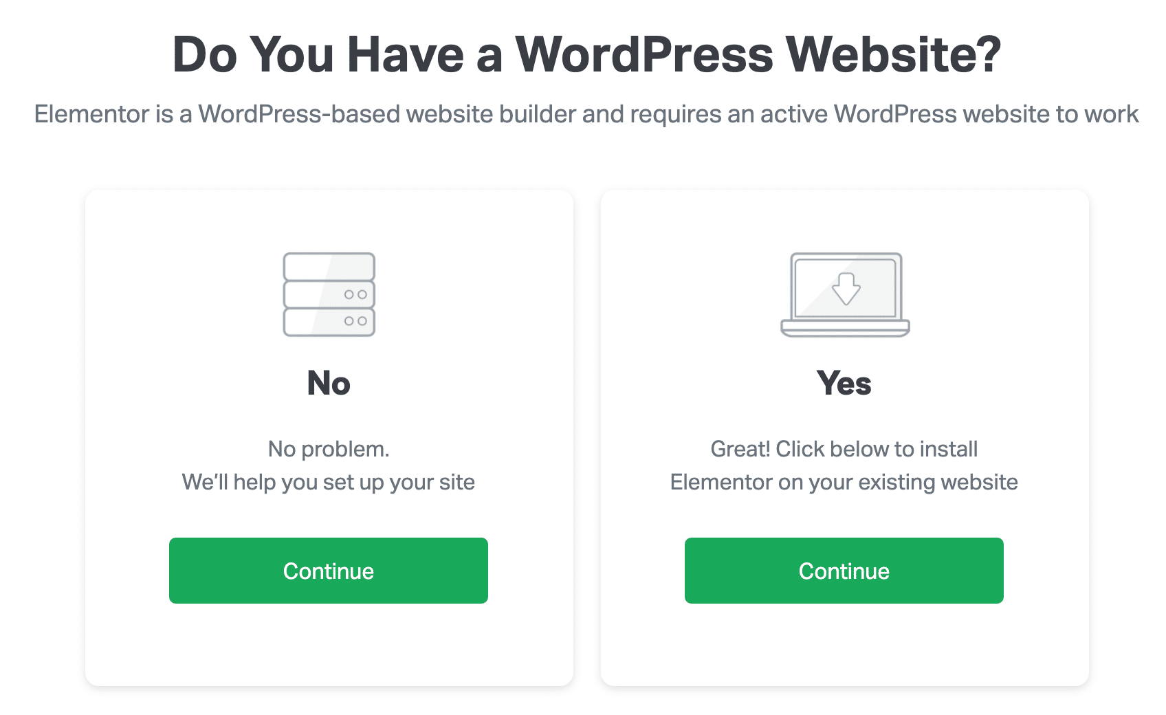 Image choices on landing page form