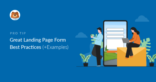 Landing page forms